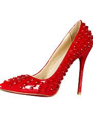 Stylové Rivet z lakované kůže Stiletto Heel Toe špičatý strana / Večerní boty