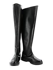 Cosplay Boots Cosplay Kururugi Suzaku Anime Cosplay Shoes Crna PU Leather Male