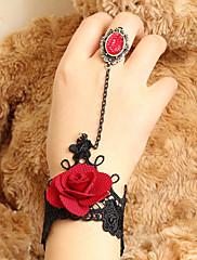 ručne cvjetanja ruža čipkastim Gothic Lolita prsten narukvicu