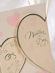 可愛いハートのデザインの結婚式の招待(50セット)
