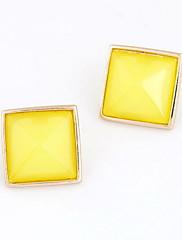 レジンスクエア型の女性のイヤリングファッション合金(その他の色)