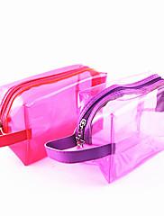 ポータブルPUが透明な袋/化粧品メイクアップ(アソートカラー)
