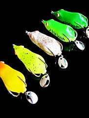 Soft Bait Frog 65MM 11,2 g Sharp Mouth Dvojitý háček Rybářské návnady s One plechu (Random Color)