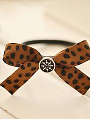 Leopard Print Cotton 8cm Bow Punk Lolita vlasů lana