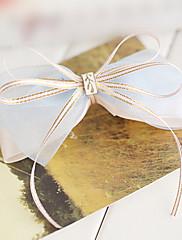 Světle modrá Organza Ribbon Champagne 11,5 cm Bow Sladká Lolita lamely s kovovou Knot