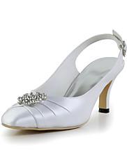 Dámské - Svatební obuv - S páskem - Lodičky - Svatba - Slonovinová / Bílá