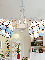 Bohemian Style Chic 4 Tiffany Light lustr s mřížkou Shade