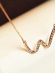 Módní Jednoduché Alloy Vlnité přívěsek pozlacený náhrdelník