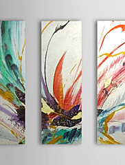 Ručně malované AbstraktníModerní Tradiční Tři panely Plátno Hang-malované olejomalba For Home dekorace
