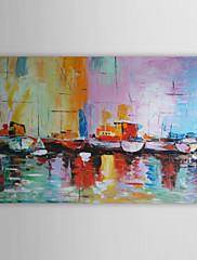 Ručně malované Abstraktní Krajina Abstraktní krajinka Horizontálně,Moderní Jeden panel Hang-malované olejomalba For Home dekorace