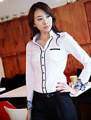 CHAOLIUレディースファッション専門の長袖コットンシャツ