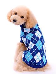 Perros Suéteres Azul Ropa para Perro Invierno / Primavera/Otoño Ajedrez