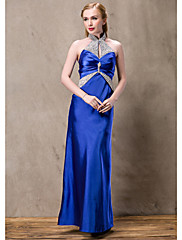 Lady Antebellum Nádherná Halter Diamonade Saténové dlouhé šaty