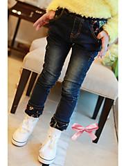 Dívčí fleece vnitřkem Jeans