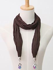 女性のための金属製ビーズペンダントのスカーフ