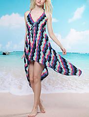 Bohemia Stripe Halter Beach Swim šaty