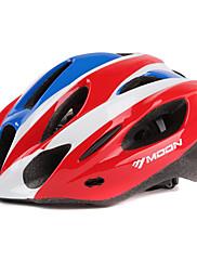 MOONサイクリングPCは+、EPS 21ベント赤+青一つは、自転車/バイクヘルメットの形成