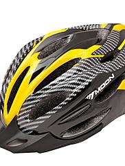 満月サイクリングPVC + EPS 22ベントスーパーライトイエロー+ブラック自転車/バイクヘルメット