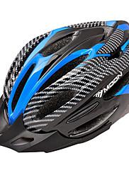 満月サイクリングPVC + EPS 22ベントスーパーライトブルー+ブラック自転車/バイクヘルメット