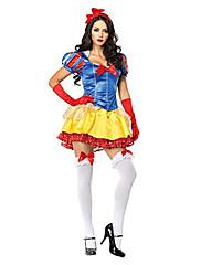 Cosplay Kostýmy / Kostým na Večírek Princeznovské / Pohádkové Festival/Svátek Halloweenské kostýmy Žlutá Patchwork / RetroŠaty / Doplňky