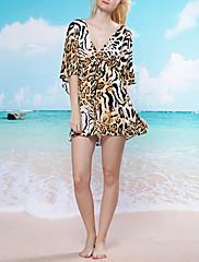 Módní Leopard Beach Swim šaty