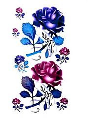 5 ks Rose Vodotěsné Dočasné tetování (10,5 cm * 20,5 cm) HM064