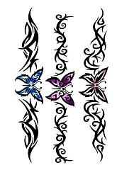 5 ks Butterfly Vodotěsné Dočasné tetování (10,5 cm * 20,5 cm) HM494