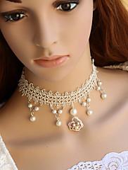 Šperky Sweet Lolita Náhrdelník Princeznovské Bílá Lolita Příslušenství Náhrdelník Krajka Pro Dámské Krajka / Umělé drahokamy