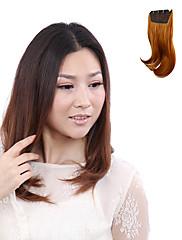 Vysoká Teplotní odolnost japonský Kanekalon Fiber Light Brown Curly Clip In Příčesek Rozšíření