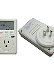 US Plug Single Phase Power Watt Volt Amp Energy Meter Analyzátor se účiník