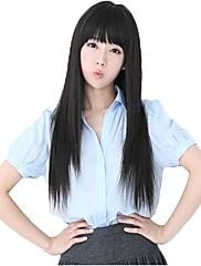 Žena Heterosexuální Krásný dlouhý Full Bang syntetické paruky 3 Barvy k dispozici