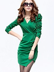 TS Jednoduchost Solid Color Plášť šaty