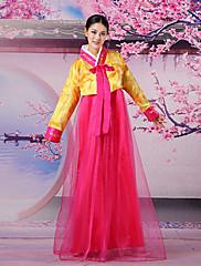 古典的な韓国のプリンセスデラックスポリエステル女性の民族衣装