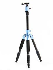 デジタル一眼レフカメラ用のFotopro X4i-E屋外トラベルアルミニウム - マグネシウム合金の伸縮三脚(ブルー)