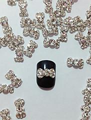 10kom Embedded Diamond Bowknot Nail Art Dekoracije
