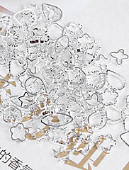 48PCS Mixs Pattern Silver Metal Nail Art dekoracije