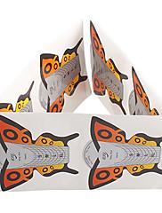 10ks Butterfly Pattern Nail Art Forms akrylátových a UV Gel Tipy