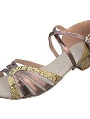 Non Přizpůsobitelné - Dámské - Taneční boty - Latina / Taneční sál - Koženka / Flitry - Jehlový podpatek - Zlatá / Vícebarevný