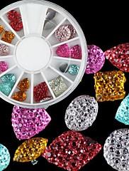 24ks Barevné Akrylové kamínky Nail Art Dekorace (6 mm)