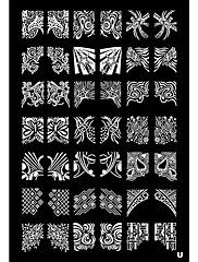 Tetragonum Nail Art Stamp Lisování obrázku Šablona Plate U řady