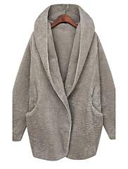 susan.q女性susan.q女性の緩いフード付きの肥厚ロングコート