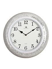 """15.2 """"H Moderní styl Round White Polyresin Nástěnné hodiny"""