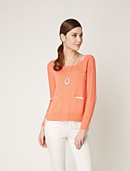 OSA女性の長い袖のO首混合色緩いシャツ