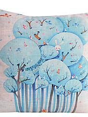 国の動物や木コットン/リネン装飾枕カバー