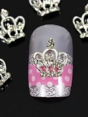 10ks 3d kutilství kamínky korunu konečky prstů slitiny nail art dekorace
