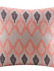リンクされた菱形コットン/リネン装飾枕カバー
