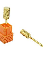 módní zlatý kulatý tvar nehtů soubor vrtáky pro manikúru