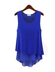 michaela evropské popruh všechny odpovídající slim šifon šaty (bílá, modrá, zelená) -1213