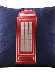 電話ボックスの綿/リネン装飾枕カバー