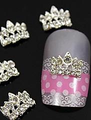 10ks třpytky koruna za konečky prstů kamínky slitiny nail art dekorace